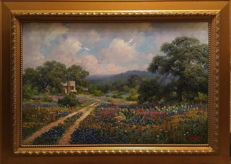 Bluebonnet Painting by Kay Walton